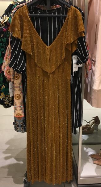 Vestido lurex Zara