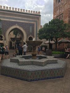 Detalhes do Pavilhão do Marrocos e da China